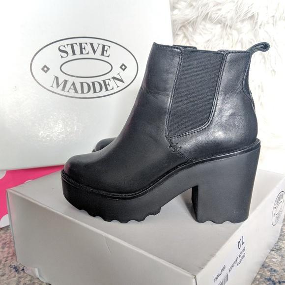 3f24e33f76d Steve Madden Leather Gretta Booties size 7